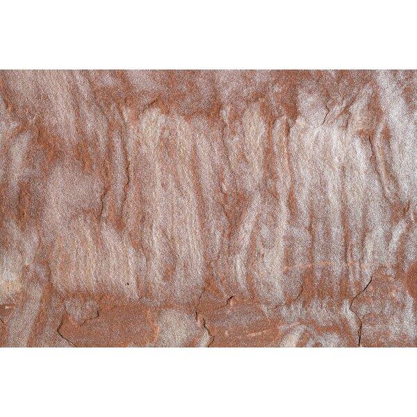 Pink Leather Natural Cleft Face, Gauged Back 24x24 Sandstone Field Tile