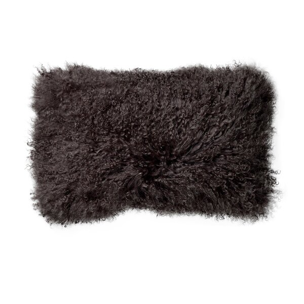 Nordman Mongolian Lamb Fur Lumbar Pillow by Union Rustic