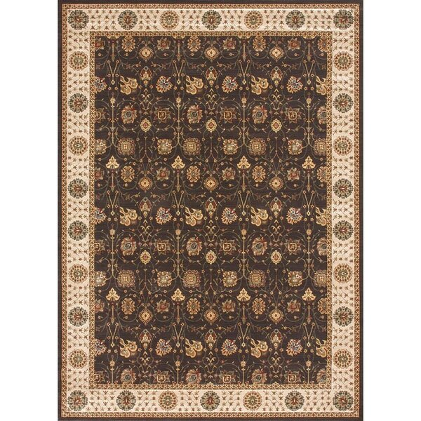 Dolphus Hand-Knotted Ivory/Brown Area Rug by Astoria Grand