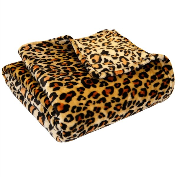 Leopard Polyester Blanket by Bare Home