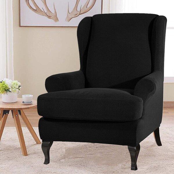 Free S&H Ultra Soft Box Cushion Wingback Slipcover