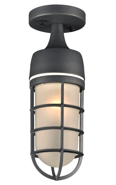 Garlington 1-Light Outdoor Semi Flush Mount by Bay Isle Home