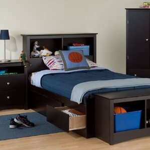 Twin Storage Platform Configurable Bedroom Set