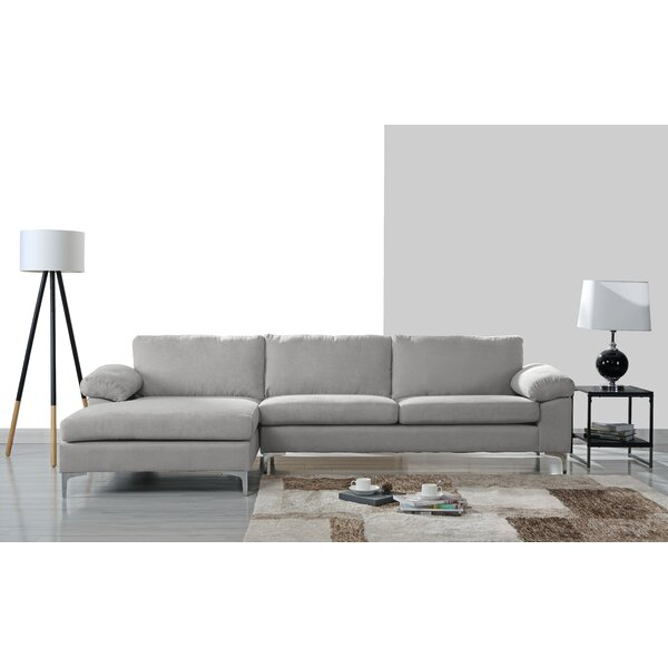 Barto Modern Large L Shape Sectional by Wrought Studio