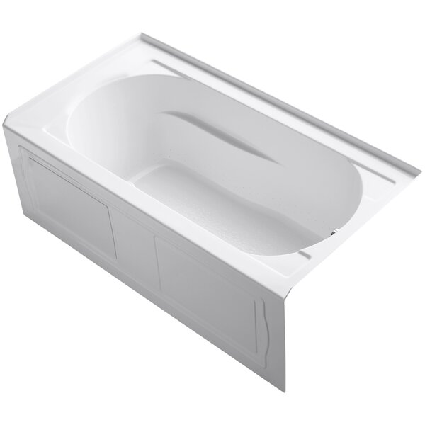 Devonshire Alcove BubbleMassage™ Air Bath with Integral Apron, Tile Flange, Right-Hand Drain and Heater by Kohler