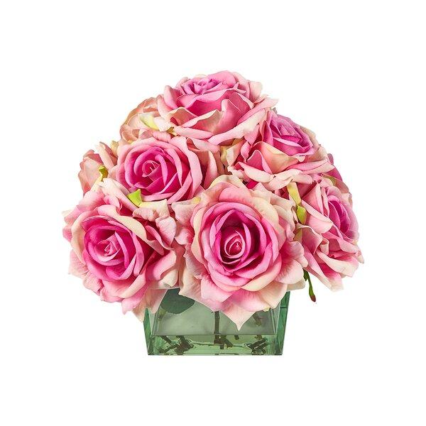 Roses in Glass Vase by Rosdorf Park