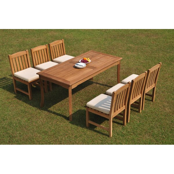 Danton 7 Piece Teak Dining Set by Rosecliff Heights