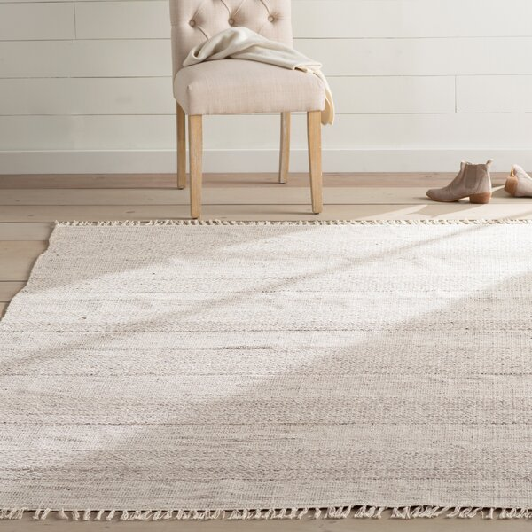 Oxbow Hand-Woven Ivory/Steel Grey Area Rug by Laurel Foundry Modern Farmhouse
