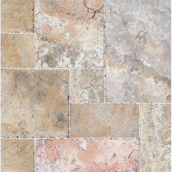 Scabos Random Sized Travertine MosaicTile in Beige/Gray by Parvatile