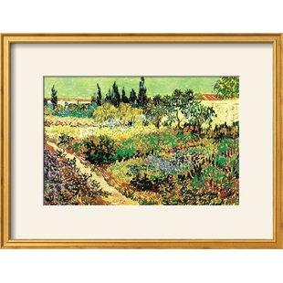 U0027Flowering Gardenu0027 By Vincent Van Gogh Framed Print