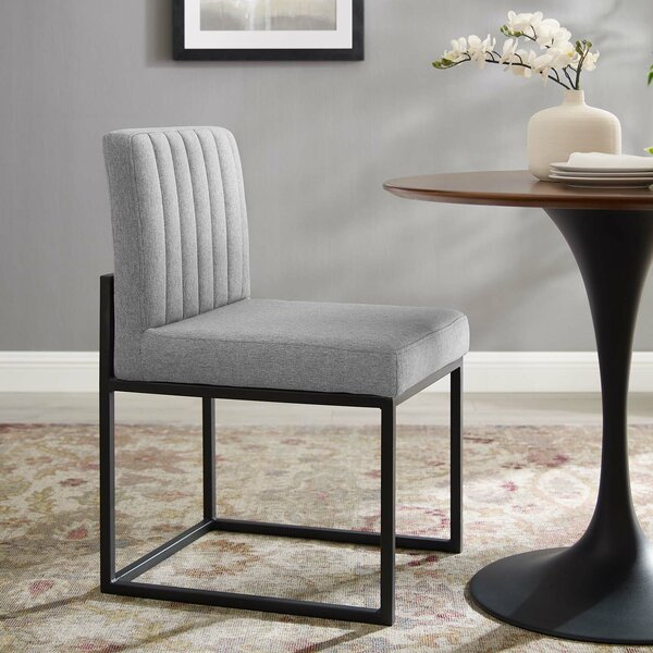Carriage Channel Tufted Upholstered Dining Chair by Everly Quinn Everly Quinn