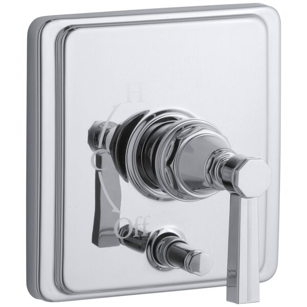 Pinstripe Rite-Temp Pressure-Balancing Shower Faucet with Diverter and Grooved Lever Handle by Kohler