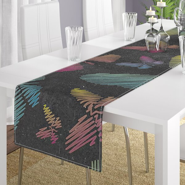 Snap Studio Butterflies II Chalk Table Runner by East Urban Home