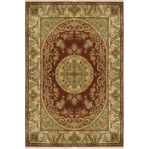 Savonnerie Hand-Tufted Burgundy Area Rug by American Home Rug Co.