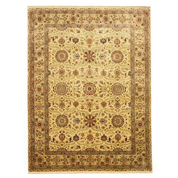 Pleasant Plains Hand-Knotted Brown Area Rug by Astoria Grand