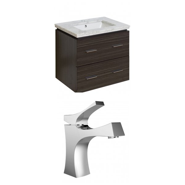 Hinerman 24 Wall-Mounted Single Bathroom Vanity Set by Royal Purple Bath Kitchen