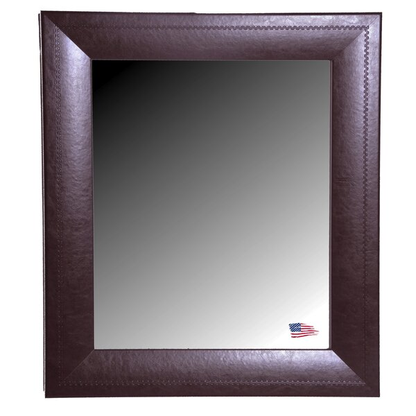 Dark Brown Leather Wall Mirror