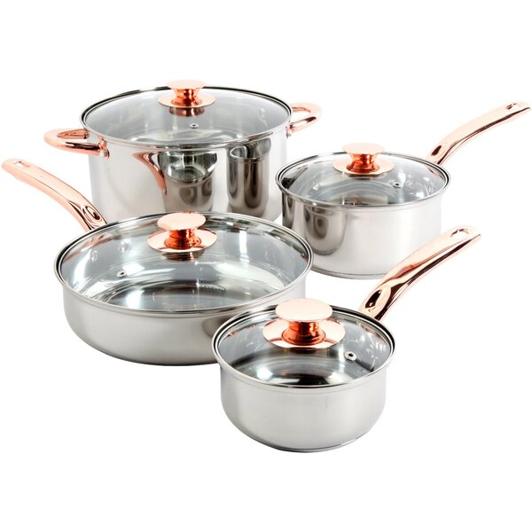 Ansonville 8 Piece Stainless Steel Cookware Set by Sunbeam