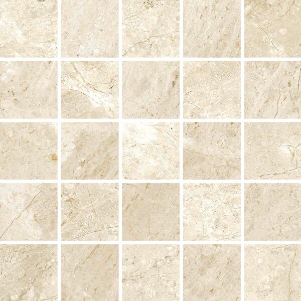 Peyton 2 W x 2 Porcelain Mosaic Tile in Off-White by Parvatile