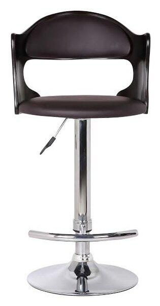 Bobbie Adjustable Height Swivel Bar Stool by Ebern Designs Ebern Designs