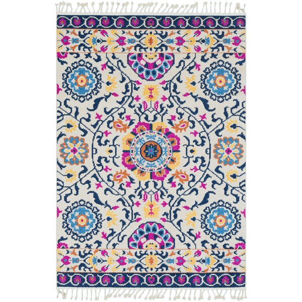 Peregrine Traditional Floral Blue Area Rug by Mistana