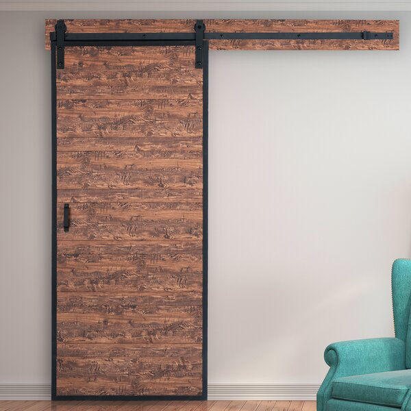 Terra Solid MDF Panelled Interior Barn Door by Erias Home Designs
