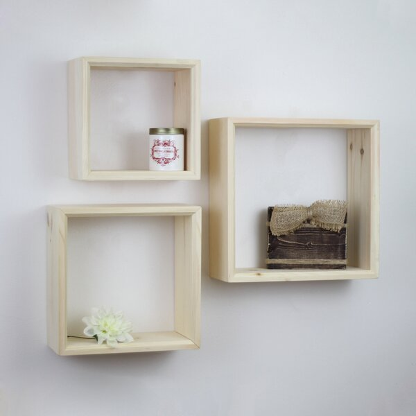 Shadow Box Shelf Set (Set of 3) by Crates & Pallet