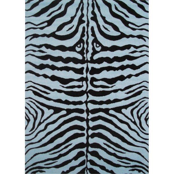 Fun Time Blue Zebra Skin Area Rug by Fun Rugs