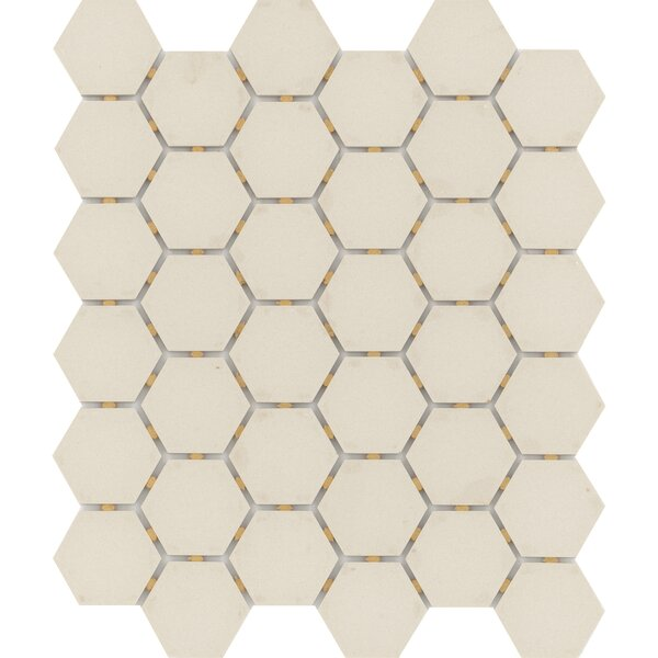 Zone Hex 2 x 2 Porcelain Mosaic Tile in Matte Fawn by Emser Tile