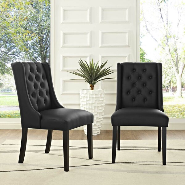 Java Upholstered Dining Chair (Set of 2) by Alcott Hill