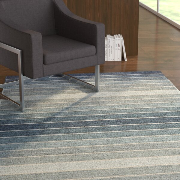 Mcdonald Hand-Loomed Denim Area Rug by Ebern Designs