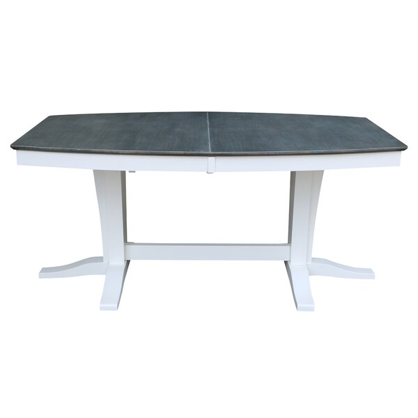 Aarush Extendable Butterfly Leaf Rubberwood Solid Wood Dining Table by Rosecliff Heights Rosecliff Heights