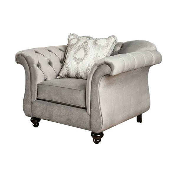 Antoinette Chesterfield Chair by Benzara
