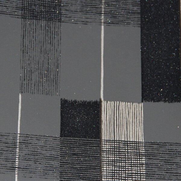 Crossroads 32.97 x 20.8 Flock Geometric Wallpaper by Walls Republic