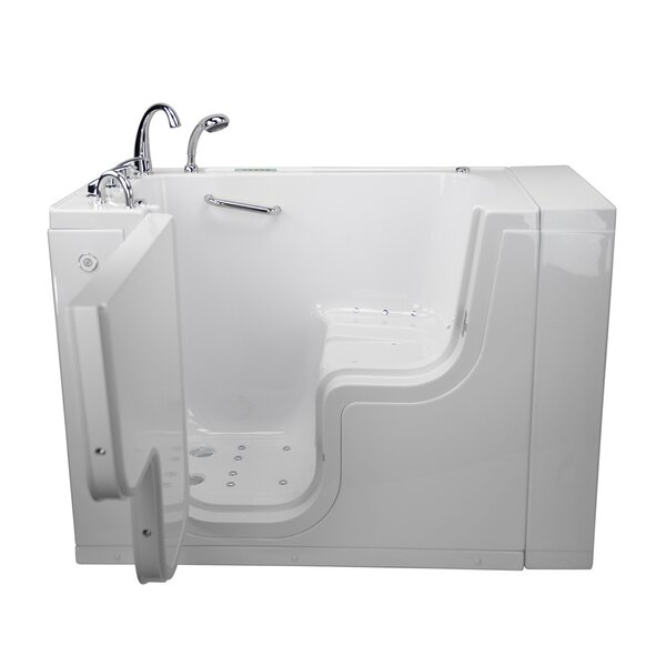 Transfer L Shape Wheelchair Accessible Dual Massage 52 x 30 Walk-in Combination Bathtub by Ella Walk In Baths