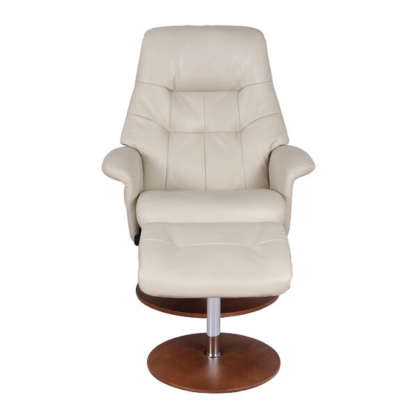 Fondren Manual Swivel Recliner with Ottoman by Latitude Run