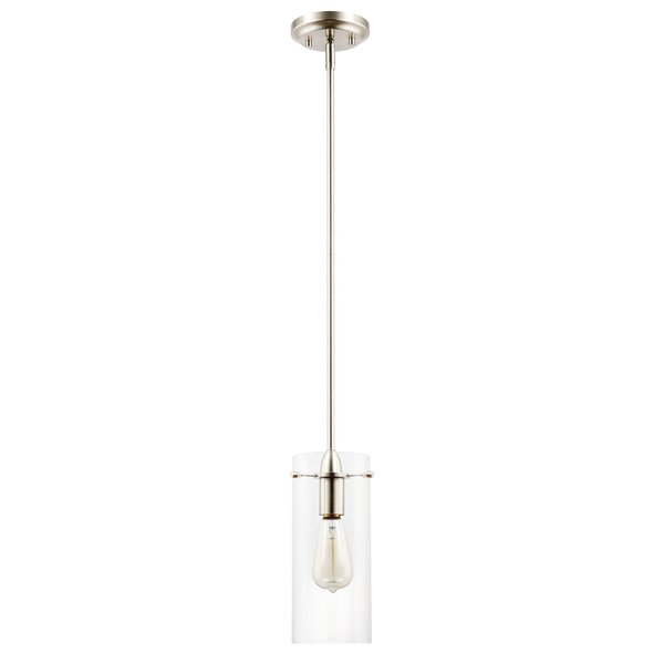 Barham 1-Light Cylinder Pendant by Gracie Oaks
