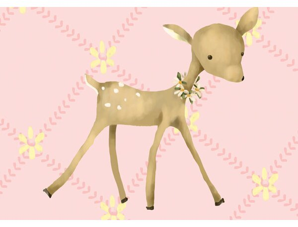 Fancy Fawn Canvas Art by Oopsy Daisy