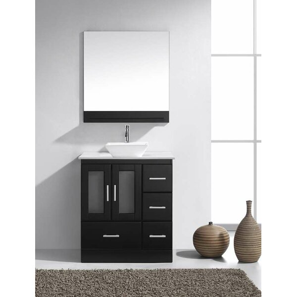 Mordecai 30 Single Bathroom Vanity Set with Mirror by Orren Ellis