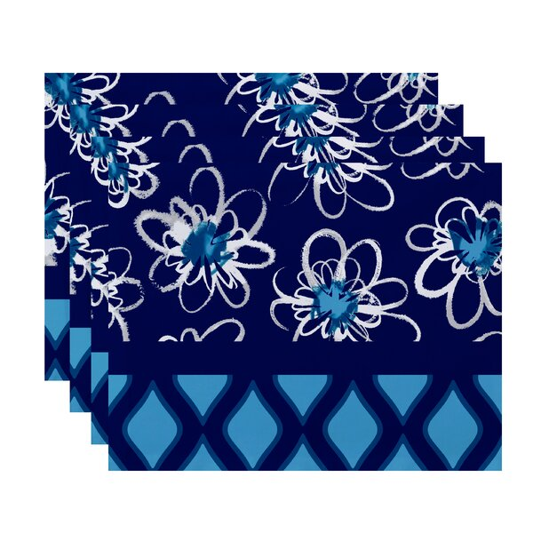 Trellis Geometric Print Placemat (Set of 4) by The Holiday Aisle