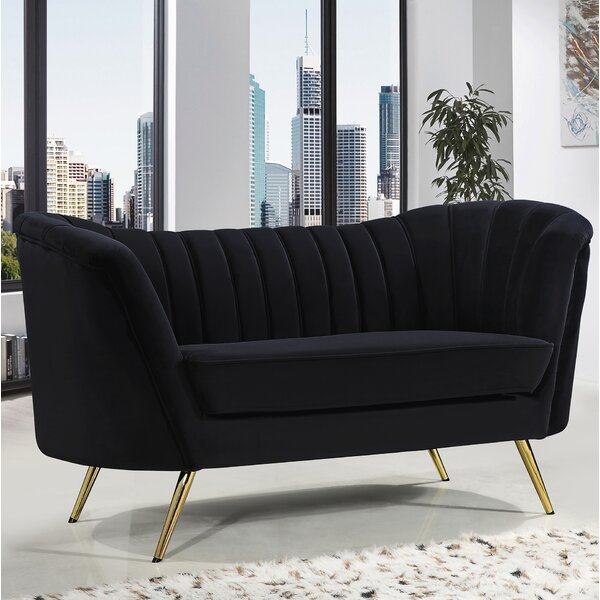New High-quality Koger Chesterfield Loveseat by Everly Quinn by Everly Quinn