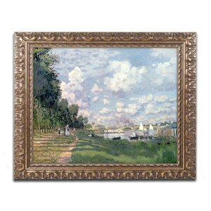 The Marina at Argenteuil, 1872 by Claude Monet Framed Painting Print by Trademark Fine Art