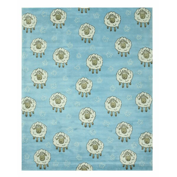 Hand-Tufted Blue Area Rug by Eastern Rugs