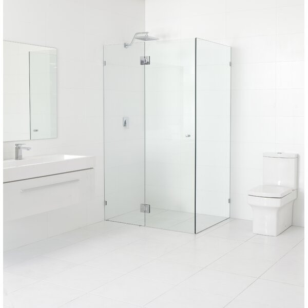 48 x 78 Hinged Frameless Shower Door by Glass Warehouse