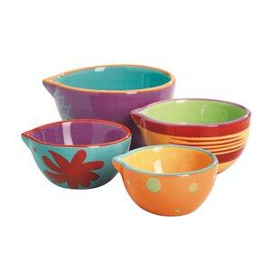 Anchor 4 Piece Ceramic Mixing Bowl Set