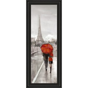 Paris Stroll by Ruanne Manning Framed Painting Print by Classy Art Wholesalers