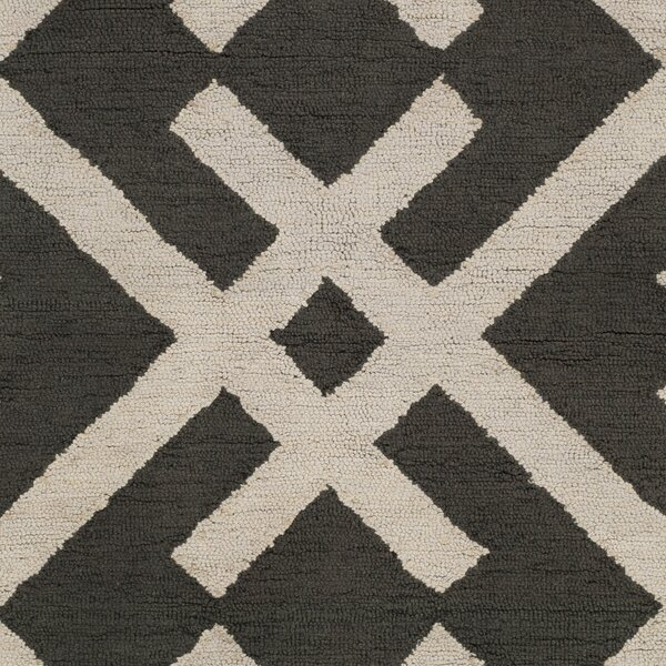 Levin Hand-Tufted Black/Beige Area Rug by Winston Porter