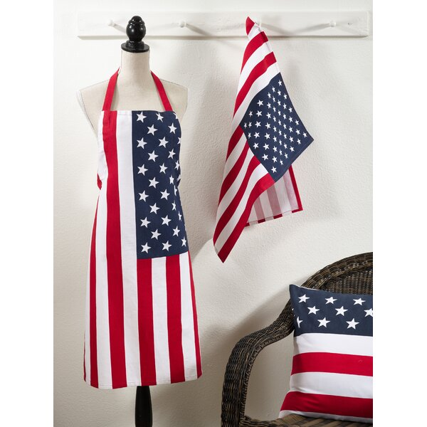Star Spangled Kitchen Apron by August Grove