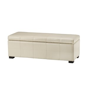Madison Leather Storage Bench by Safavieh