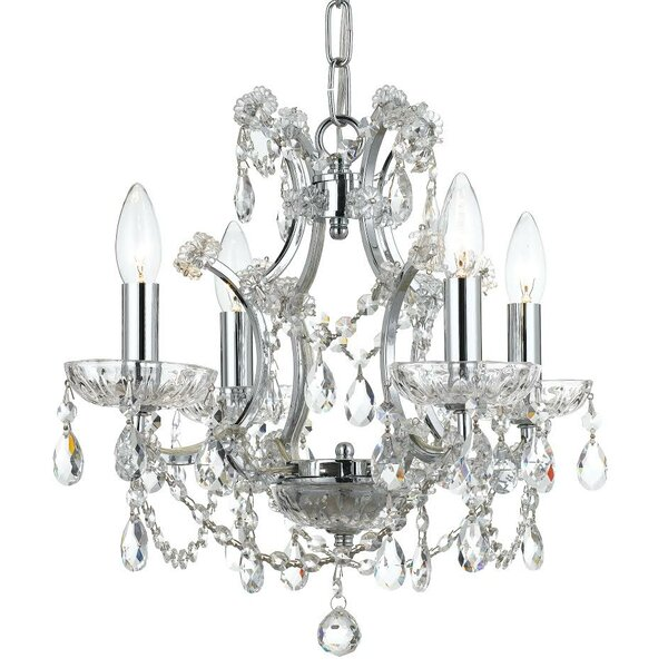 Catchings 4-Light Crystal Chandelier by House of Hampton